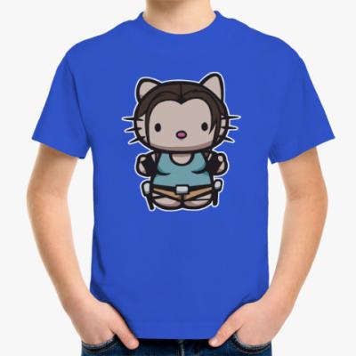 Детская футболка Kitty Лара Крофт