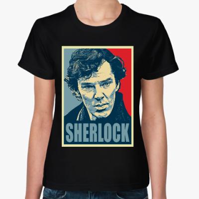 Женская футболка Шерлок