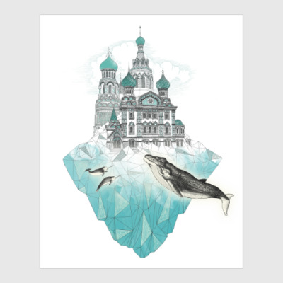 Постер Зимний Санкт-Петербург