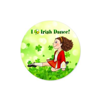 Виниловые наклейки I love Irish Dance!