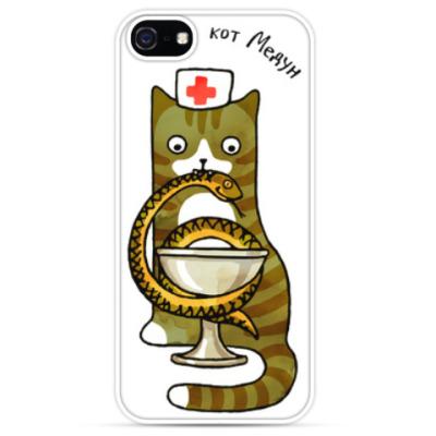 Чехол для iPhone Кот военный медик