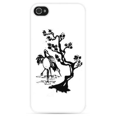 Чехол для iPhone Цветы и птицы
