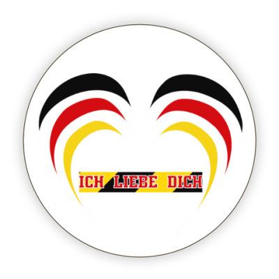 Костер (подставка под кружку) Я люблю тебя по-немецки