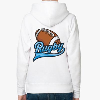 Женская толстовка худи Регби Rugby Мяч для Регби