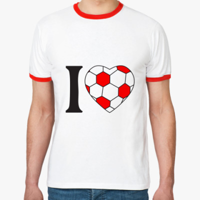 Футболка Ringer-T I Love Football
