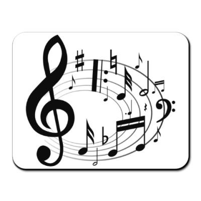 Коврик для мыши Музыкальный вихрь
