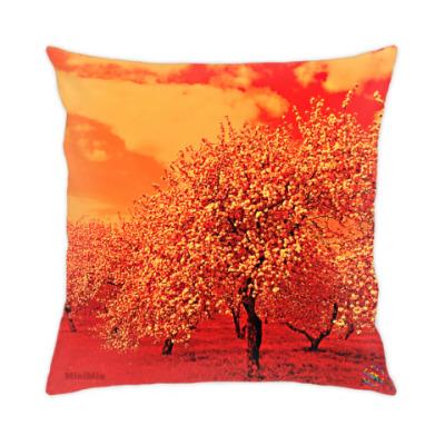 Подушка Яблоневый сад - огонь
