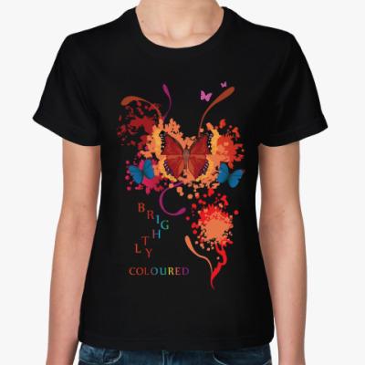 Женская футболка Яркие бабочки