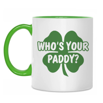 Кружка Who's your paddy