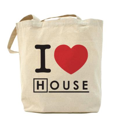 Сумка I heart House Холщовая сумка