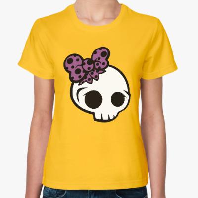 Женская футболка Черепки