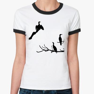 Женская футболка Ringer-T  Бакланы