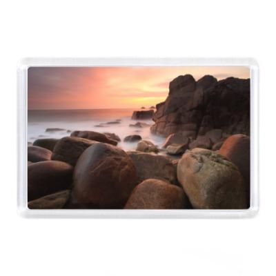 Магнит Море, камни