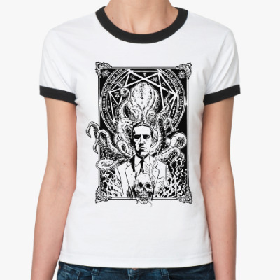 Женская футболка Ringer-T Лавкрафт