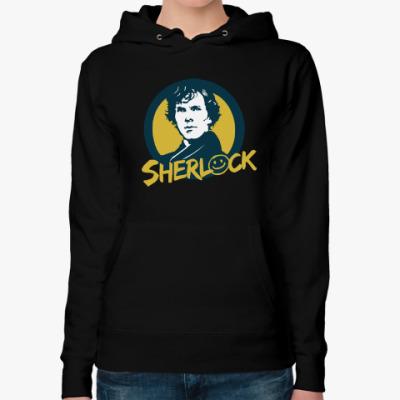 Женская толстовка худи Sherlock Holmes