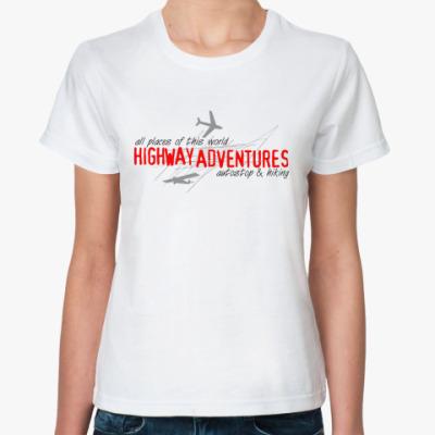 Классическая футболка «Highway Adventures»