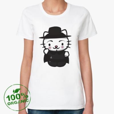 Женская футболка из органик-хлопка Kitty Vendetta