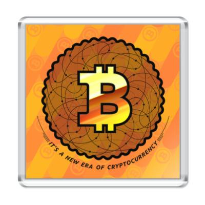 Магнит BITCOIN - новая эра, эра криптовалют!