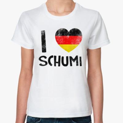 Классическая футболка 'Ай Лав Шуми'