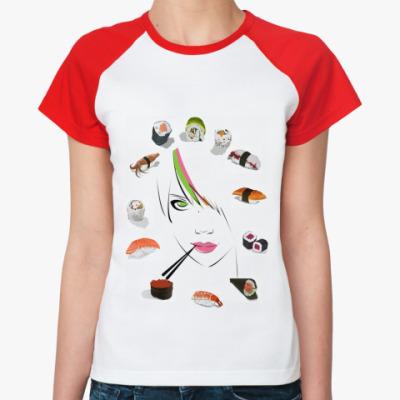 Женская футболка реглан Ассорти  Ж()