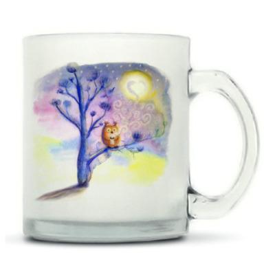 Сова пьет кофе