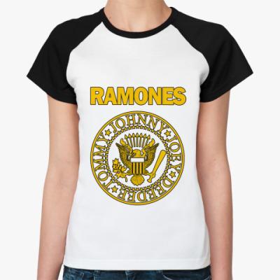 Женская футболка реглан Ramones yell  Ж()
