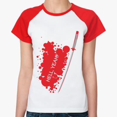 Женская футболка реглан YEAH!