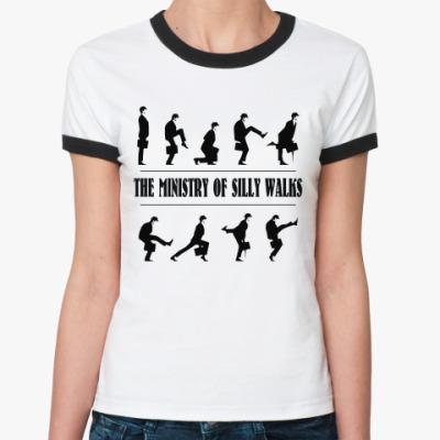 Женская футболка Ringer-T  Silly Walkes (OTH11)