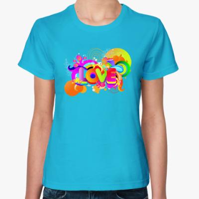 Женская футболка Радуга Любви