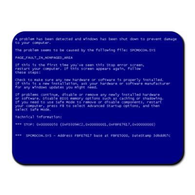 Коврик для мыши  'Синий экран смерти'
