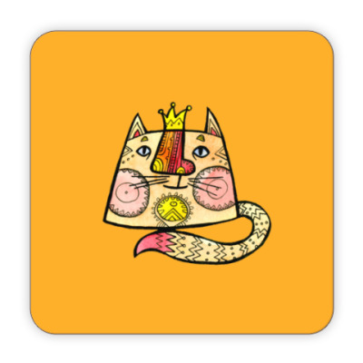 Костер (подставка под кружку) Кот Генрих