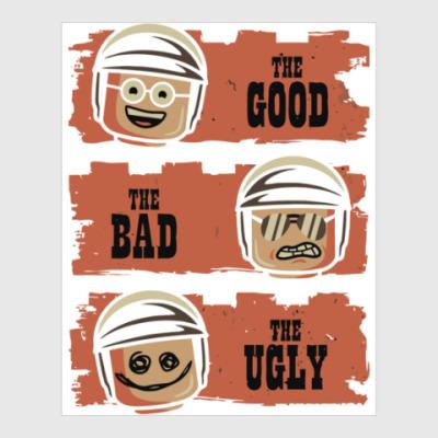 Постер Лего - хороший, плохой, злой