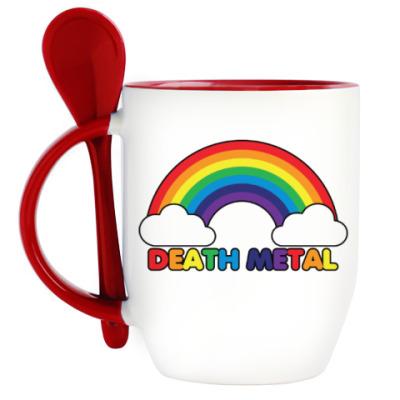 Кружка с ложкой Death Metal