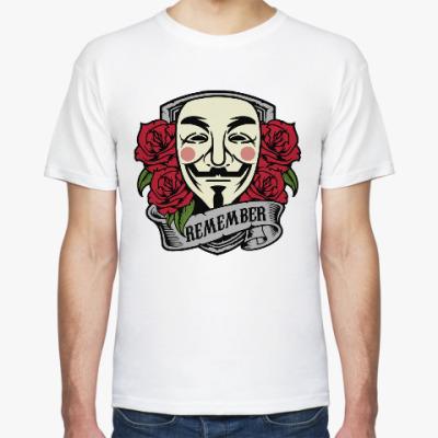 Футболка Анонимус (Маска Гая Фокса)