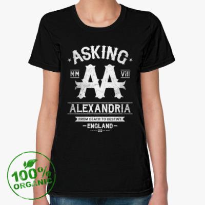 Женская футболка из органик-хлопка Asking Alexandria
