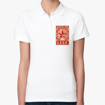 Женская рубашка поло Советский Союз