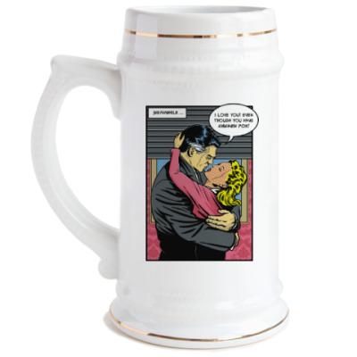Пивная кружка Страница из ретро комикса