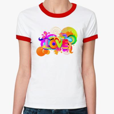 Женская футболка Ringer-T Радуга Любви