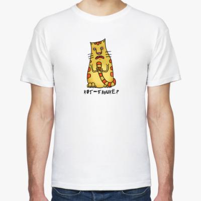 Футболка кот-паникер