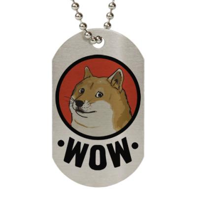 Жетон dog-tag Лайка WOW