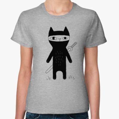 Женская футболка Кот-ниндзя