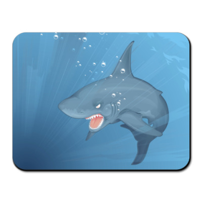 Коврик для мыши акула