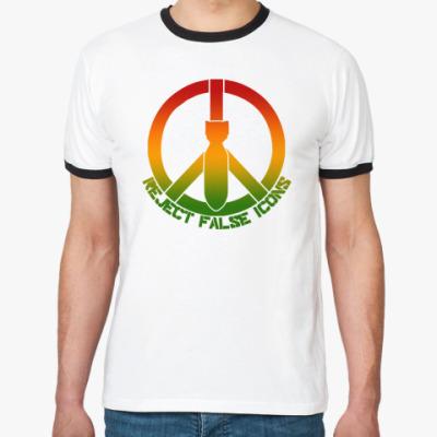 Футболка Ringer-T   Peace