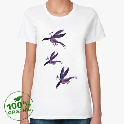 Женская футболка из органик-хлопка Птички