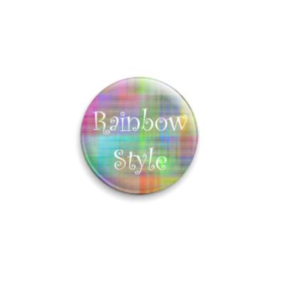 Значок 25мм Rainbow Style