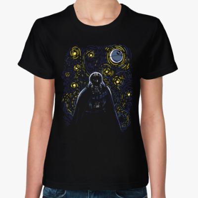 Женская футболка Darth Vader Ван Гог