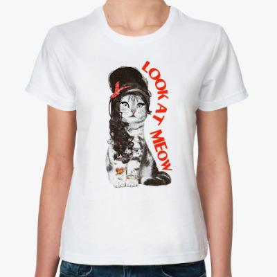 Классическая футболка Кошка модница