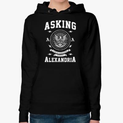 Женская толстовка худи Asking Alexandria