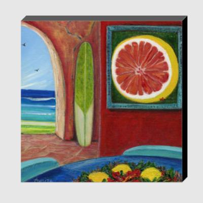 Холст Grapefruit ('Грейпфрут')