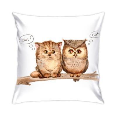 Подушка Сов и кот